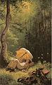 Carl Spitzweg - Der Maler auf einer Waldlichtung, unter einem Schirm liegend.jpg