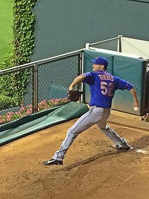 Carlos Torres (pitcher) -  Torres warming up in the bullpen