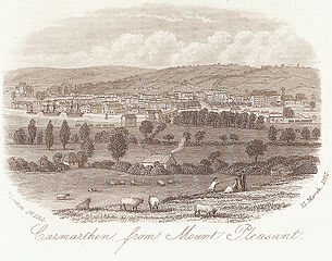 Carmarthen from Mount Pleasant