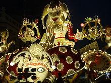 Carro infiorato del Carnevale di Acireale