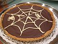 Carol's Chocolate Pie with decorative web and spiders.jpg