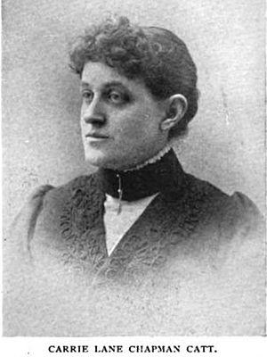 Carrie Chapman Catt - Catt in 1897