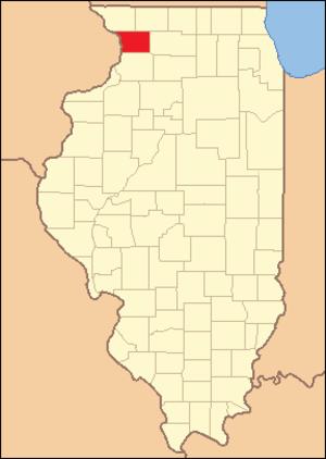 Carroll County, Illinois - Image: Carroll County Illinois 1839
