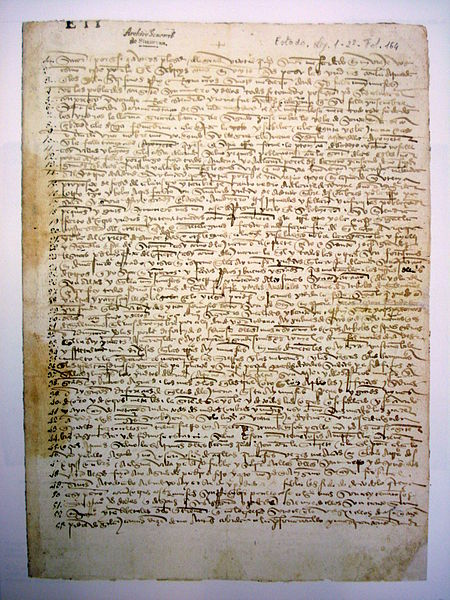 File:Carta Colon 1493 manuscrito Simancas.JPG