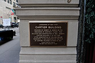 Morton F. Plant House - Landmark of New York plaque