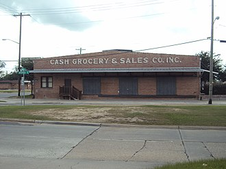 National Register of Historic Places listings in Calcasieu Parish, Louisiana - Image: Cash Grocery and Sales Company Warehouse, Lake Charles, LA