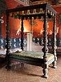 Castiglione olona, palazzo branda, interno, camera del cardinale, letto di fattura lombarda del 1625-50 ca. 01.jpg
