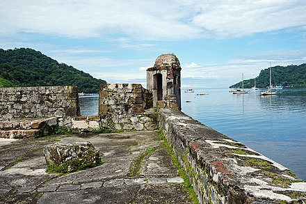 Ruins of the fortress of San Jeronimo, Portobelo Castillo San Jeronimo Portobelo 09 2019 0505.jpg