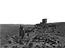 Photo of the Castillo de Jimena taken sometime between 1879 and 1890