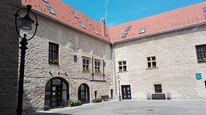 Sigismund Rákóczi - Courtyard of Rákóczi's castle at Szerencs