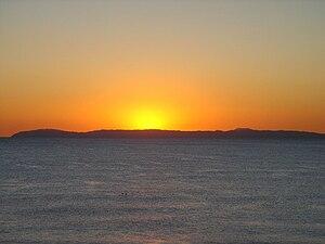 A silhouette of Santa Catalina Island (Califor...