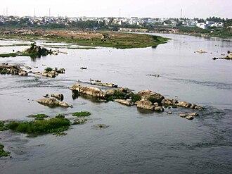 Erode - River Kaveri at Erode.