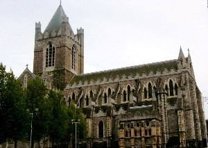 History of Dublin - Christ Church Cathedral (exterior)