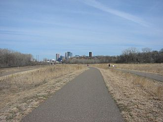 Transportation in Minnesota - Cedar Lake bike trail in Minneapolis