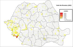 Czechs of Romania - Czechs of Romania (2002 census)