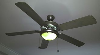 Fan (machine) - Ceiling fan with a lamp