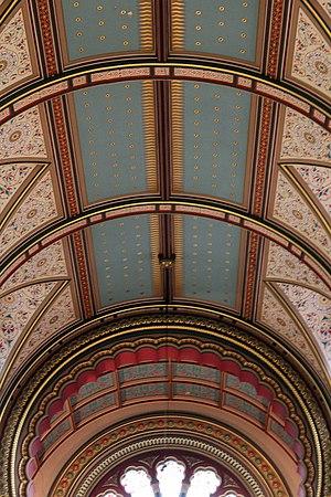 Princes Road Synagogue - Image: Ceiling of Princes Road Synagogue