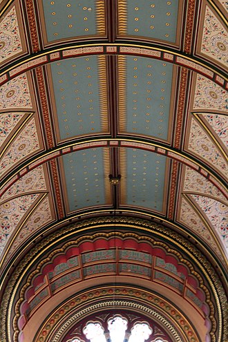 Princes Road Synagogue - Image: Ceiling of Princes Road Synagogue