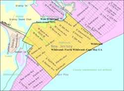Census Bureau map of Wildwood, New Jersey