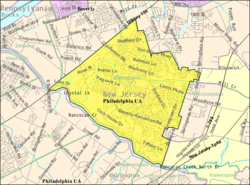 Census Bureau map of Willingboro Township, New Jersey