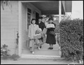 Centerville, California. Members of farming families are pictured as they left for Centerville, one . . . - NARA - 537549.tif