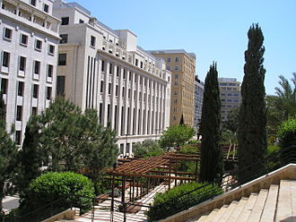 Lebanon - Roman baths park on the Serail hill, Beirut.