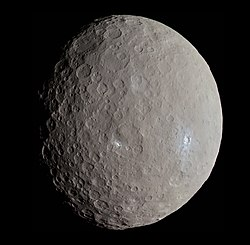 Ceres, photographed on May 4, 2015 by the Dawn spacecraft from a distance of 13,600 km