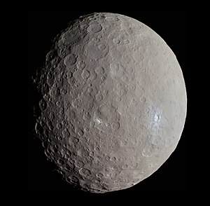 Dwarf planet - Image: Ceres RC3 Haulani Crater (22381131691) (cropped)