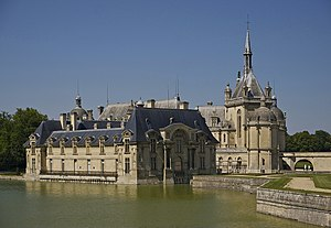 The Château de Chantilly, as seen from south.