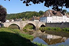 The Romanesque bridge in Chambon-sur-Voueize