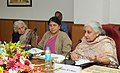 Chandresh Kumari Katoch addressing at the inauguration of the meeting of the coordination Committee on Living and Diverse Cultural Traditions, in New Delhi. The Secretary, Culture, Smt. Sangita Gairola is also seen.jpg