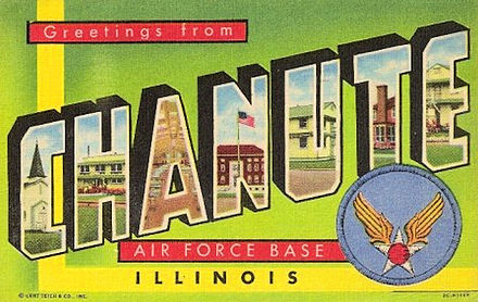 Korean War era postcard - Chanute Air Force Base