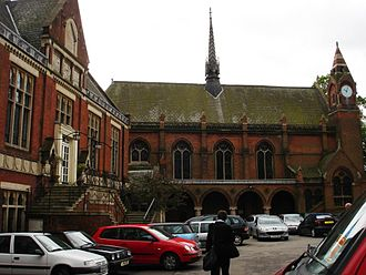 "Highgate School - Chapel Quad, with ""Big School"" on the left, and the chapel"