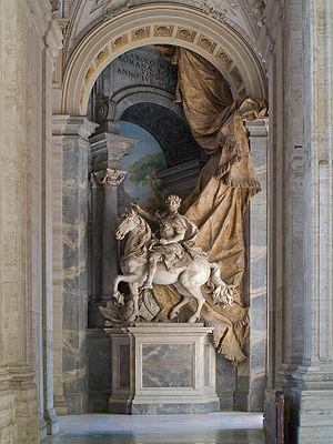 Agostino Cornacchini - Monumental equestrian statue of Charlemagne, by Agostino Cornacchini (1725), St. Peter's Basilica, Vatican, Italy.