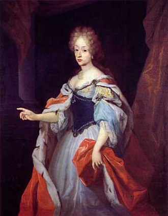 Charlotte Amalie of Hesse-Kassel - Portrait of Charlotte Amalie as queen by an unidentified artist, c. 17th century