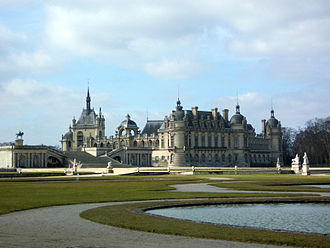 French formal garden - Gardens of the Château de Chantilly.