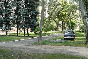 Pokrovsk, Ukraine - A grove in central Pokrovsk