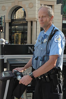 Chicago police officer on segway