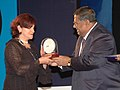 Child artist Julia Urbini shared Special Jury Award for the film from Mexico ' More than Anything in the World' Ms. Rossa on her behalf collected the award at the closing ceremony of IFFI 2007 at Panaji, Goa.jpg