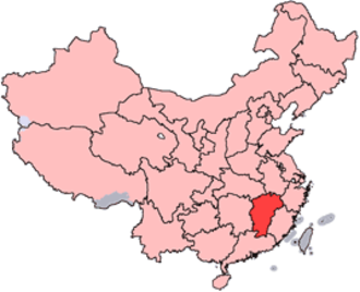 Fourth Encirclement Campaign against Jiangxi Soviet - Location of Jiangxi