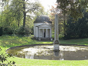 English landscape garden - Ionic Temple at Chiswick House