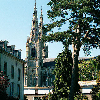 Cholet - The church in Cholet