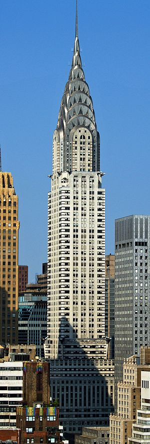Architecture of New York City - The Chrysler Building (1930), is one of the city's best examples of the art-deco style with ornamental hub-caps and iconic spire