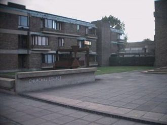 Storey's Way - Main entrance of Churchill College on Storey's Way.