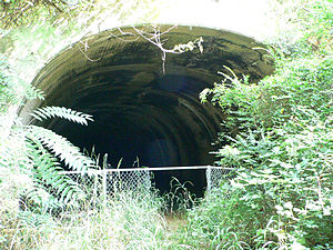 Church Hill Tunnel - The east entrance to the tunnel, in  2010.