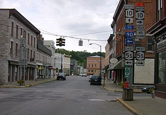 Canajoharie (village), New York - Image: Church Street Canajoharie