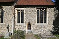 Church of St Martin White Roding Essex England - chancel south wall.jpg