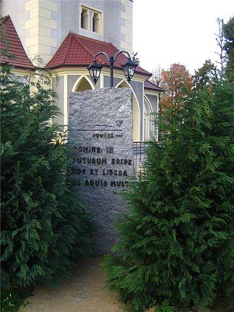 1997 Central European flood - Image: Cisek Memory Stone