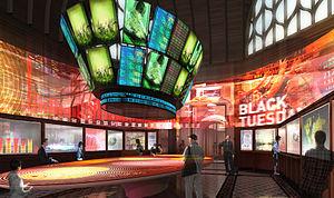 Cité de l'économie et de la monnaie - Grand Lobby of the future Cité de l'économie et de la monnaie, architectural and museographic contest, 2011.