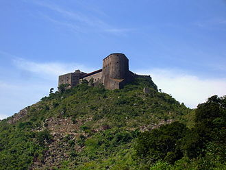 World Monuments Fund - Aerial view of the Citadelle Laferrière, in northern Haiti, a conservation project of the World Monuments Fund (1985-87).